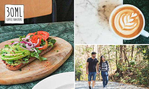 Wandelarrangement + koffie/thee + lunch to go bij 30ml