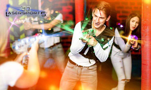 2 LaserTag-Spiele + Getränk