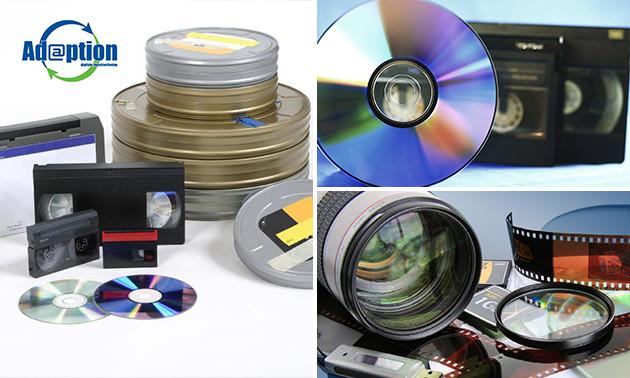 Waardebon voor digitaliseren videobanden of foto's