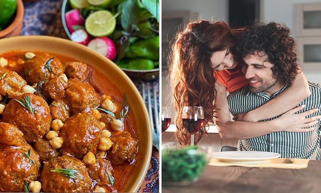 Afhalen: voorgerechten + 6 curry's + brood