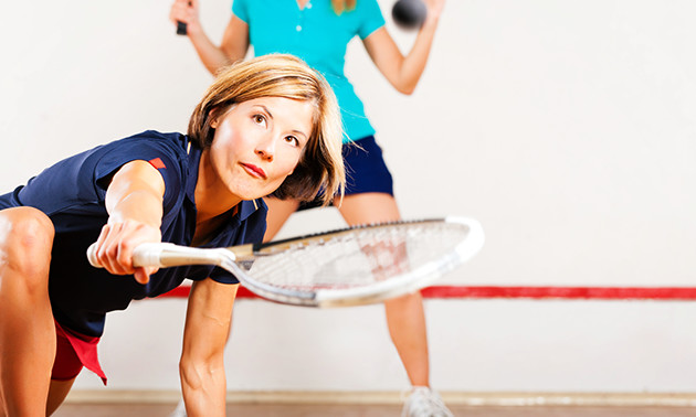 Huur squashbaan + rackets en balletje