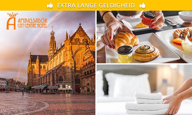 Overnachting + ontbijt + evt. diner voor 2 in hartje Haarlem