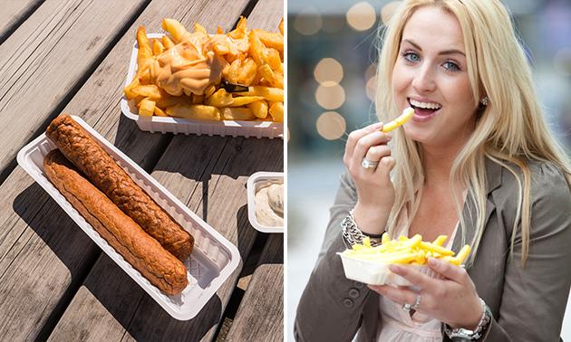 Friet + saus + snack + frisdrank