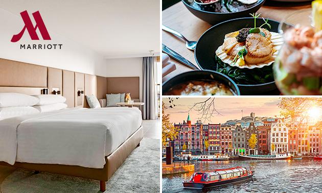 5-sterrenovernachting + ontbijt + diner voor 2 in Amsterdam