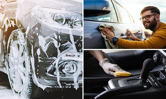 Innen- und Außen Fahrzeugreinigung