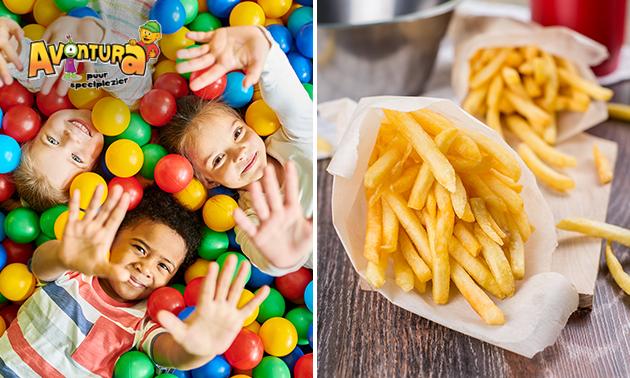 Entree indoor speelparadijs + friet + saus