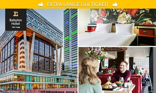 Übernachtung + Frühstück + Getränk für 2 in Den Haag