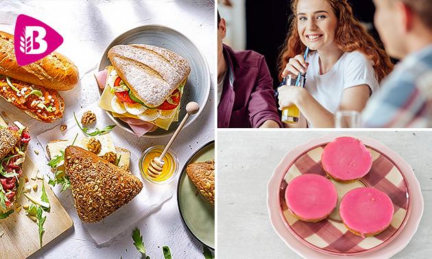 Afhalen: broodje + smoothie + 2 koeken bij Bakker Bart