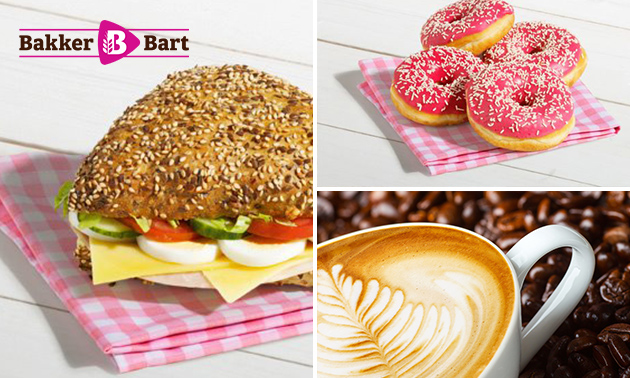 Afhalen bij Bakker Bart: belegd broodje + drankje + donut