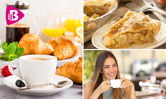 Gebak + 2x warme drank óf ontbijt bij Bakker Bart