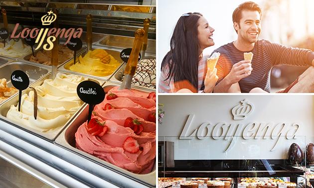 Afhalen: 1 liter ijs naar keuze van Looijenga