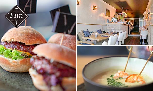 2-gangen lunchproeverij bij Bar & Kitchen Fijn
