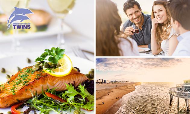 2-gangenlunch of -diner aan het strand van Scheveningen