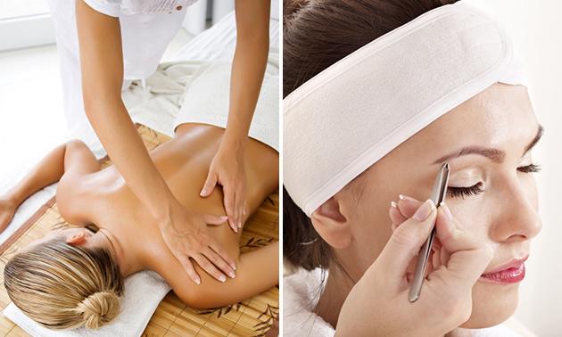 Massage (45 min) of wenkbrauwen epileren + verven
