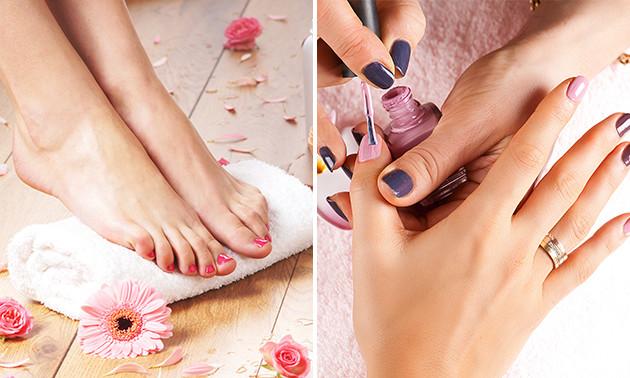 Manicure of cosmetische voetverzorging (50 min)
