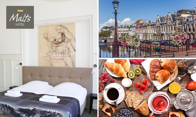 Overnachting voor 2 + ontbijt in hartje Haarlem
