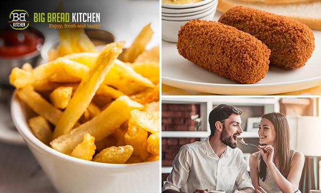 Afhalen: gezinszak friet + snacks + saus