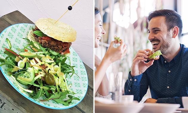 2-gangen keuzelunch + mini-wafel