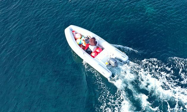 Huur motorbootje (hele dag) voor 8 personen