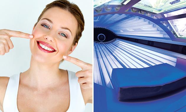 Tandenbleekbehandeling + evt. zonnebanksessie
