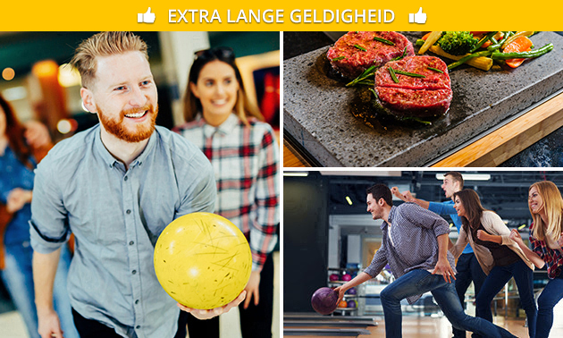 Bowlen (1 uur) + All-You-Can-Eat steengrillen