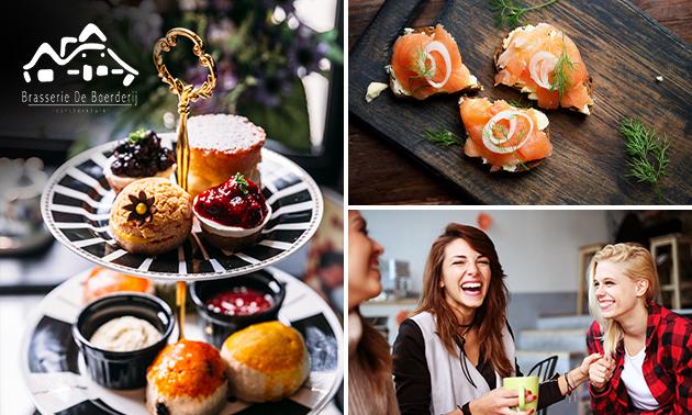 Afhalen: high tea bij Brasserie de Boerderij