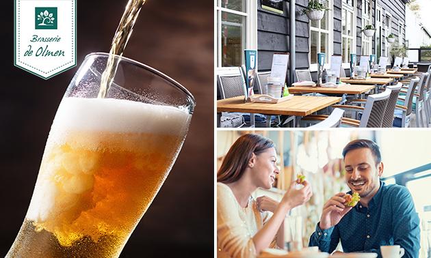 Bierproeverij (4 bier) + bittergarnituur bij Brasserie De Olmen