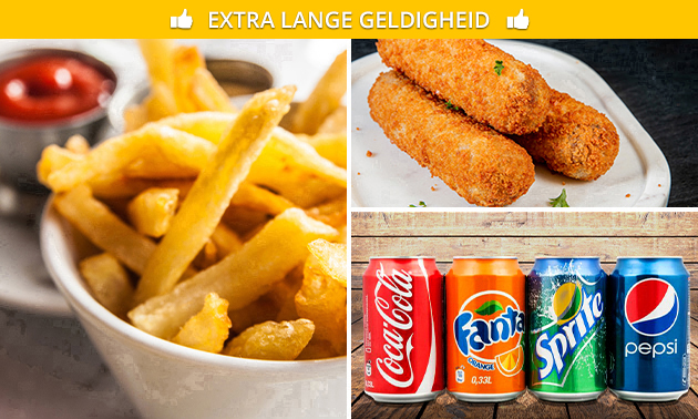 Afhalen: friet + snack + saus + fris