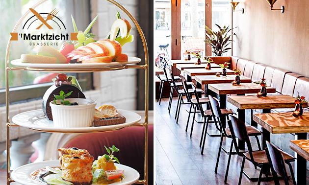 Afhalen: high tea + prosecco bij Brasserie 't Marktzicht