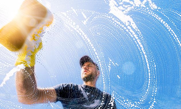 Ramen wassen of reiniging overkapping