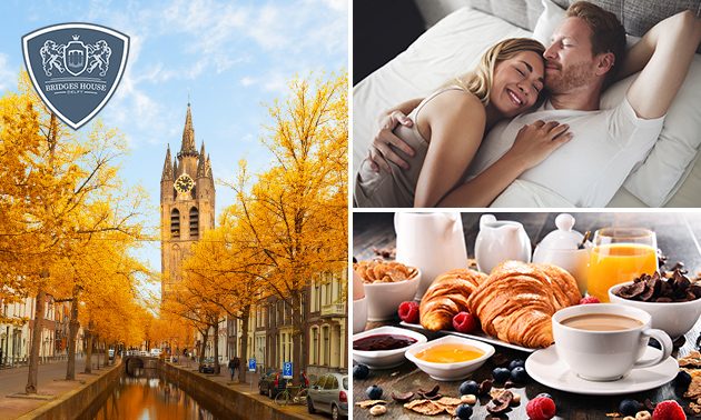 Übernachtung für 2 + Frühstück im Herzen Delfts