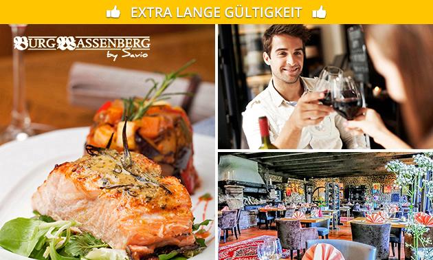 6-Gänge-Menü bei Restaurant Burg Wassenberg by Savio
