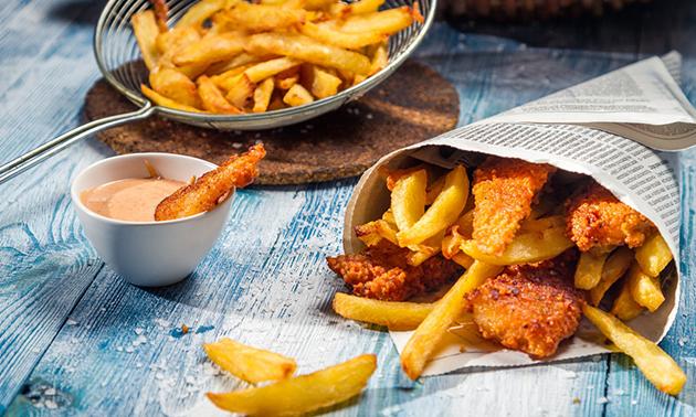 Fish & chips + drankje naar keuze in hartje Delft