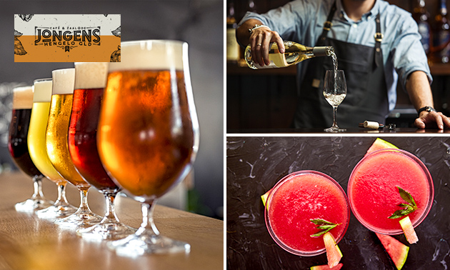 3 frozen drinks of bier- of wijnproeverij met hapjes
