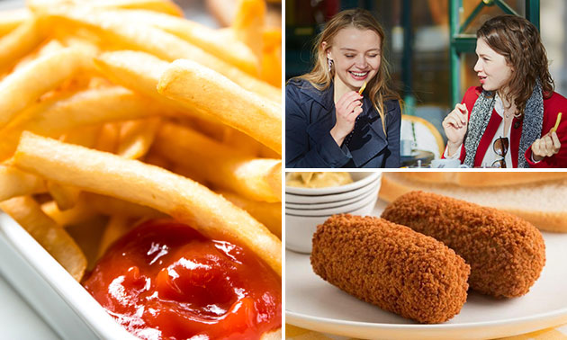 Grote friet + snack + drankje bij De Ambacht
