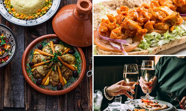 Thuisbezorgd: broodje + frietjes of Marokkaans diner