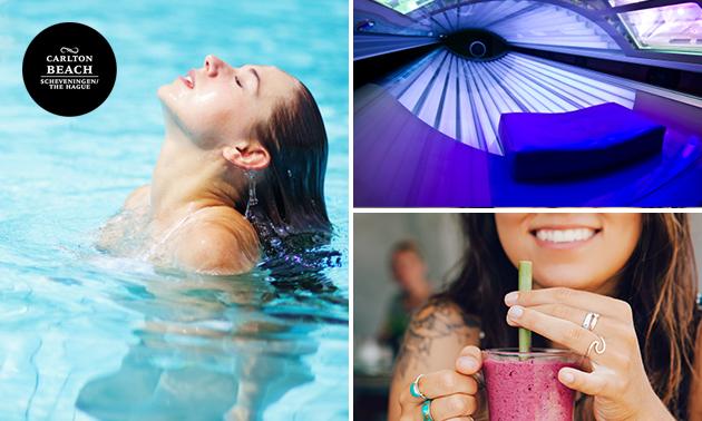1 of 5 keer zwemmen + drankje + evt. zonnebank