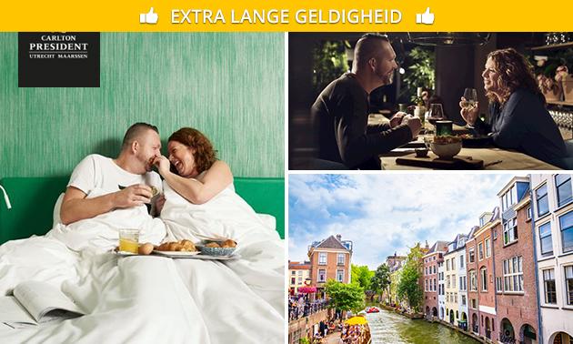 Overnachting + ontbijt + parkeren voor 2 in Utrecht