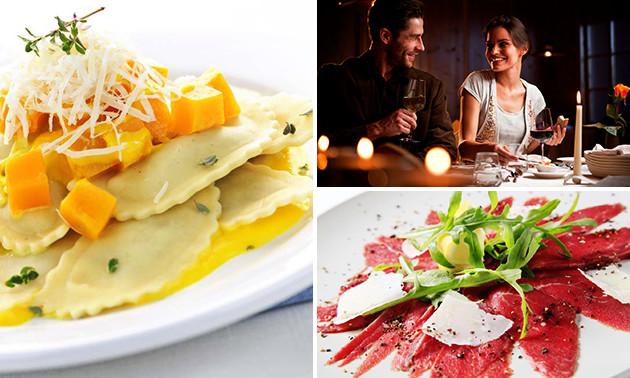 Italienisches 4-Gänge-Menü im Restaurant Carpaccio