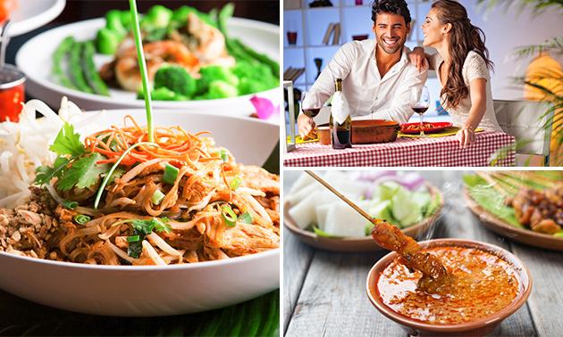 Rijsttafeldiner bij Chinees Indisch Restaurant Azië