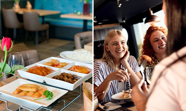 Uitgebreid shared dining-diner bij Sozing