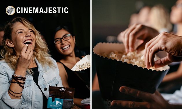 Bioscoopkaartje + drankje voor Cinemajestic