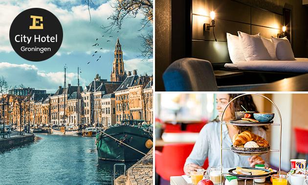 Overnachting + ontbijt voor 2 in hartje Groningen