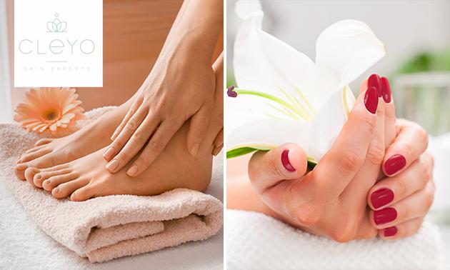 Gellak + mini-manicure- en/of pedicurebehandeling