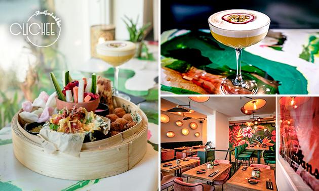2-gangendiner of luxe cocktail