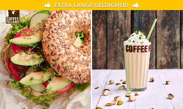Bagel + drankje bij Coffee Fellows Hilversum