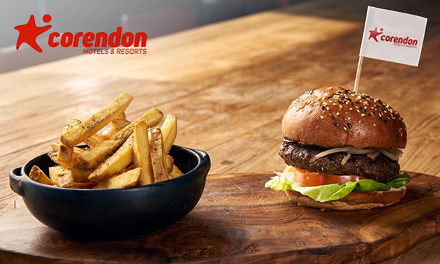 Burgerdiner of -lunch bij Corendon