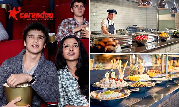 All-You-Can-Eat brunch of diner + filmticket bij Corendon