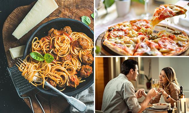 Thuisbezorgd of afhalen: pizza of pasta naar keuze