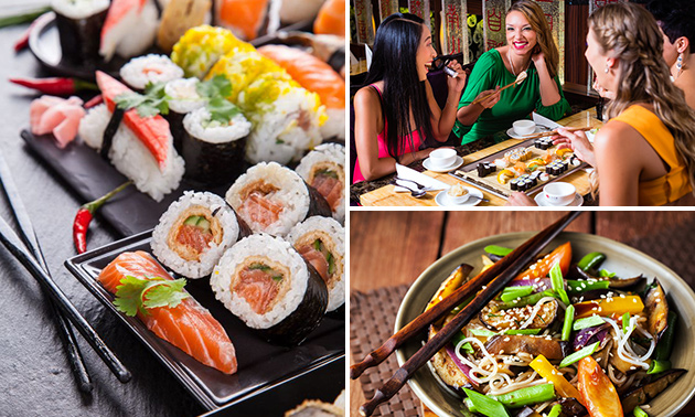 All-You-Can-Eat sushi (3 uur) + kop koffie/thee